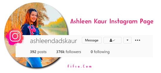 Photo of Tiktok Star AshleenDads Kaur Real Instagram Page